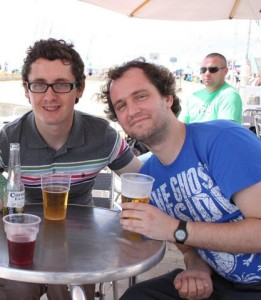 Me and Nick, with beer unsurprisingly