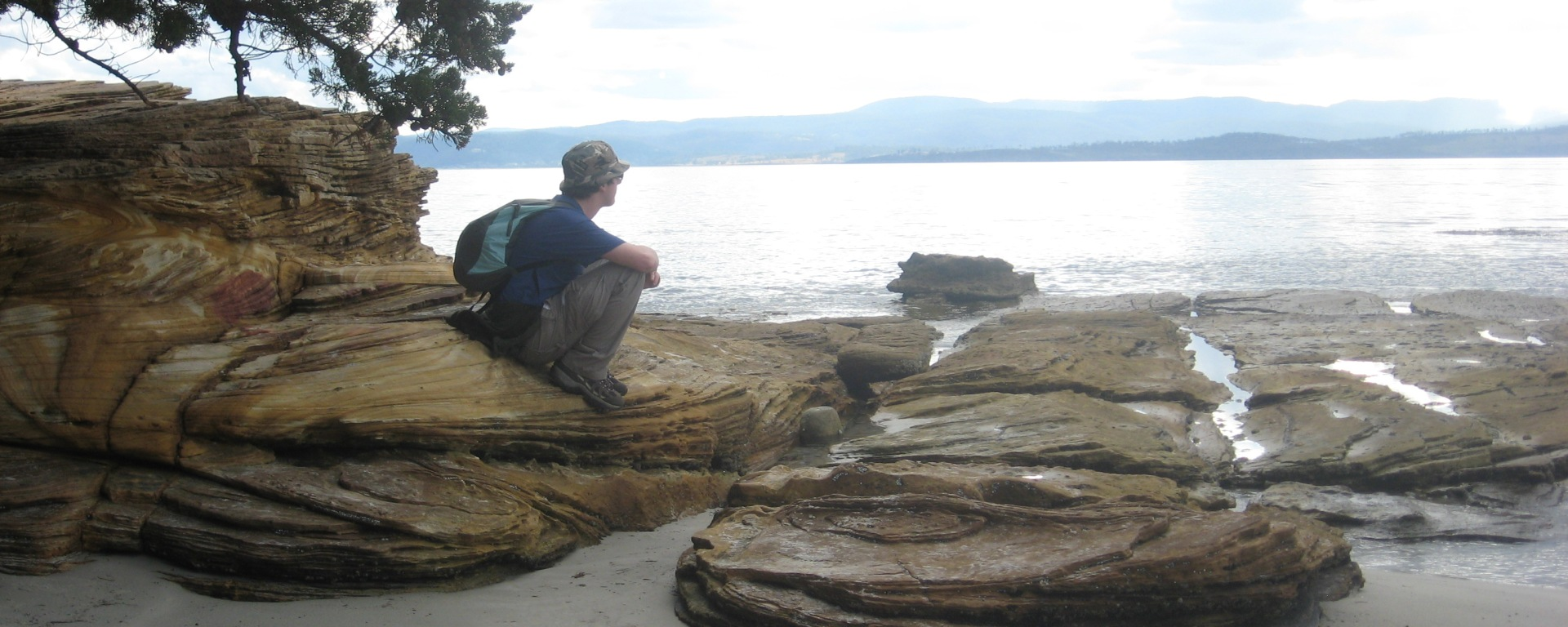 Me, looking out to sea, thinking of the future.