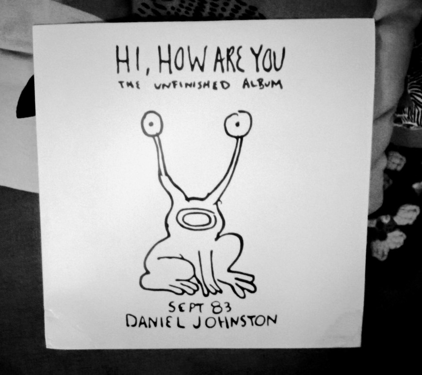 The album cover of Daniel Johnston's Hi, How Are You, on the occasion of his death